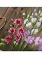 Vitale Kırçiçeği Ahşap Dekoratif Tablo Renkli